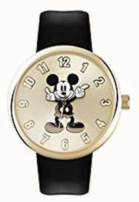 Disney Adult Topolino cassa in oro cinturino nero MK1443