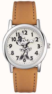Disney Adult Cinghia di cinghia di argento del mouse di Minnie MN1550