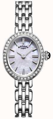 Rotary Womans cocktail orologio in acciaio inossidabile madreperla LB05050/07