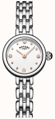 Rotary Womans elegante orologio da cocktail in acciaio inox LB05052/02