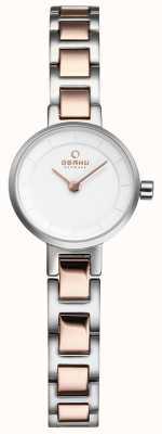 Obaku Womans argento e rosa orologio in metallo oro V198LXCISC