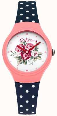 Cath Kidston Signore quadrante fiore orologio punto blu Polka CKL024PU