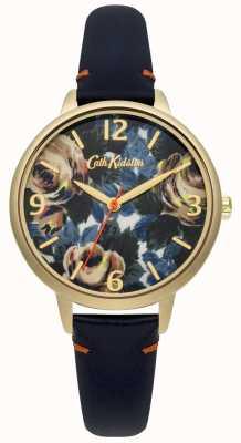 Cath Kidston Donne profondo pelle blu oxford orologio rosa CKL001UG
