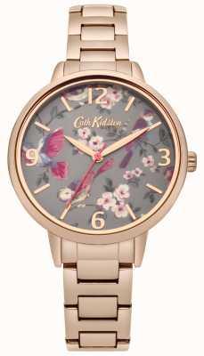 Cath Kidston Donna uccelli britannici rosa braccialetto d'oro CKL001RGM