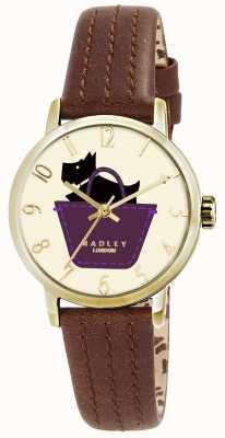 Radley orologio confine con cinturino in vera pelle marrone chiaro RY2290
