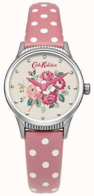 Cath Kidston Donne foresta gruppo di vigilanza di cuoio macchia rosa CKL012PS