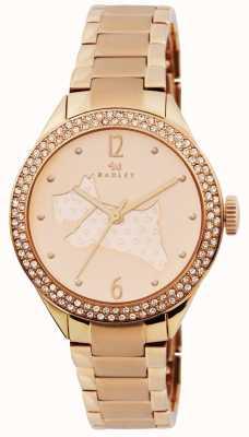 Radley I grandi spazi aperti rosa braccialetto placcato in oro RY4190