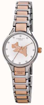 Radley Sul link corsa braccialetto di due toni RY4214