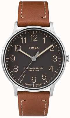 Timex Cinturino in metallo nero a quadrante nero waterbury TW2P95800
