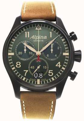 Alpina Mens Startimer quarzo pilota cronografo AL-372GR4FBS6