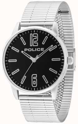 Police Mens Esquire acciaio billetta nero 14765JS/02M