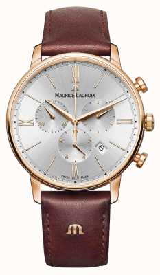 Maurice Lacroix Eliros 40mm Mens Watch in pelle marrone oro rosa placcato EL1098-PVP01-111-1