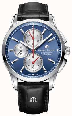 Maurice Lacroix Mens pontos blu cronografo automatico PT6388-SS001-430-1