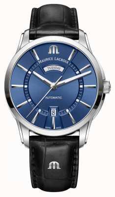 Maurice Lacroix Mens pontos blu automatico PT6358-SS001-430-1