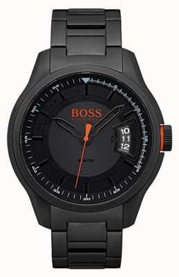Hugo Boss Orange Hong kong nero orologio in acciaio inox 1550005