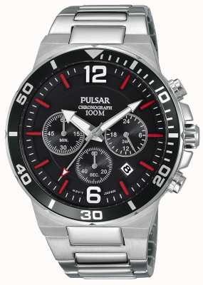 Pulsar Orologio da cronografo in acciaio inossidabile 100m PT3797X1