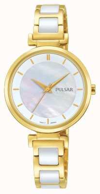 Pulsar Orologio da donna in oro placcato / ceramica PH8272X1