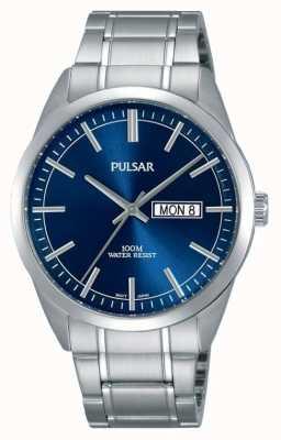 Pulsar orologio blu faccia in acciaio inossidabile Gents PJ6073X1