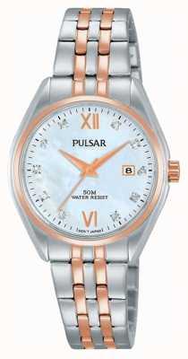 Pulsar Orologio a quadrante della perla due toni PH7458X1