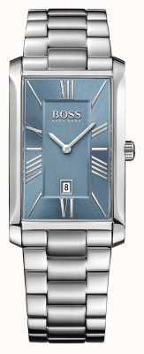 Hugo Boss Mens bracciale in acciaio ammiraglio quadrante blu 1513438