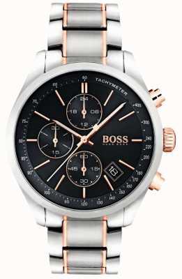 Boss Quadrante nero da uomo in acciaio inossidabile con gran quadrante 1513473