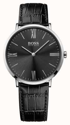 Hugo Boss Mens Jackson cinturino in pelle nera quadrante nero 1513369