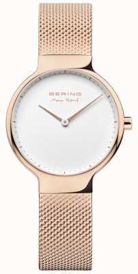 Bering Ladies max rené intercambiabile cinturino in oro rosa 15531-364