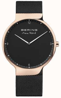 Bering Cinturino in maglia intercambiabile Mens max rené nero 15540-262