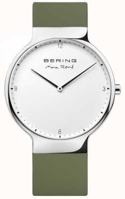 Bering Cinturino in gomma verde intercambiabile Mens max rené 15540-800