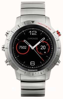 Garmin Fenix chronos titanium hybrid (w / cinturino sportivo nero) 010-01957-01