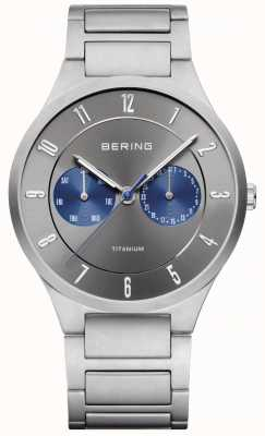 Bering Orologio da uomo cronografo grigio titanio 11539-777