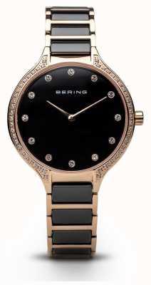 Bering Orologio nero di zirconia nera delle signore 30434-746