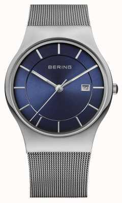 Bering Orologio da polso uomo blu cinturino in milanese 11938-003