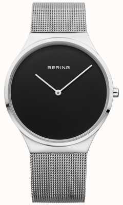Bering Mens classico milanese maglia nera 12138-002