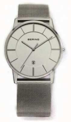 Bering Orologio quadrante bianco classico cinturino in rete 13139-000