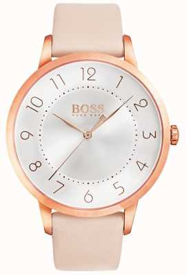 BOSS Orologio da donna eclipse in pelle rosa 1502407