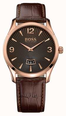 Hugo Boss Gents comandante di guardia in pelle marrone 1513426