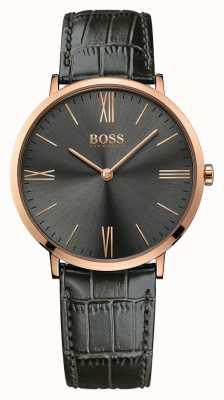 Hugo Boss Mens Jackson orologio in pelle grigia 1513372