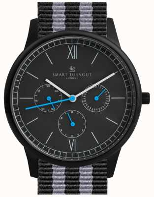 Smart Turnout Watch Time - nero con cinturino NATO STK2/BK/56/W