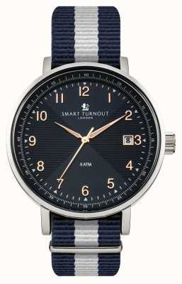 Smart Turnout orologio blu Scholar con cinturino Yale STH3/BL/56/W