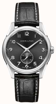 Hamilton Mens Jazzmaster thinline piccoli secondi nero quarzo H38411783