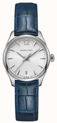 Hamilton Womans Jazzmaster quarzo in pelle blu H42211655