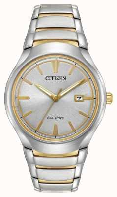 Citizen Mens eco drive di due toni di paradigma AW1554-59H
