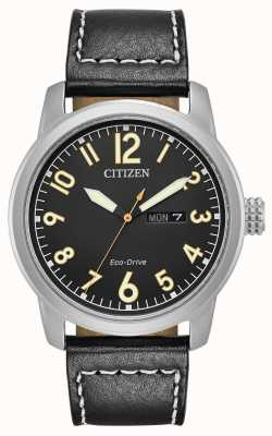 Citizen Mens unità eco pelle nera Chandler BM8471-01E