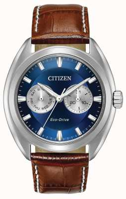 Citizen Mens Eco-Drive quadrante blu paradex BU4010-05L