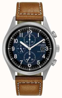 Citizen Mens Eco-Drive cronografo blu Chandler CA0621-05L