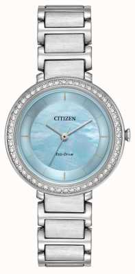 Citizen Womans Eco-Drive silhouette di cristallo blu EM0480-52N