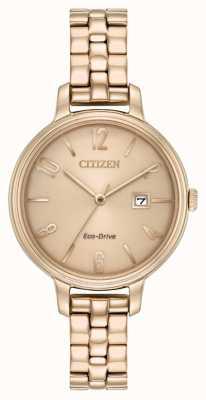 Citizen Womans eco-drive chandler oro rosa EW2443-55X