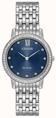 Citizen Womans Eco-Drive silhouette di cristallo blu EX1480-58L