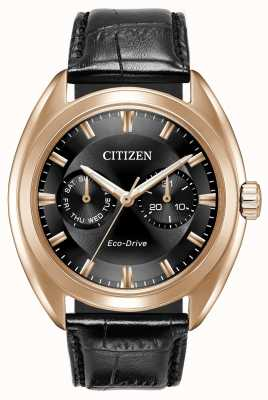 Citizen Mens Eco-Drive paradex pelle nera BU4013-07H
